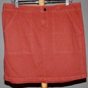 Kuhl 100% Cotton Maroon Hiking Skirt Sz L